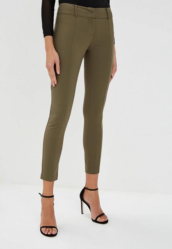 женские зауженные брюки patrizia pepe, хаки