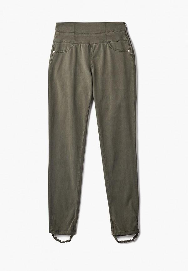 Фото 5 - женские брюки Patrizia Pepe цвета хаки
