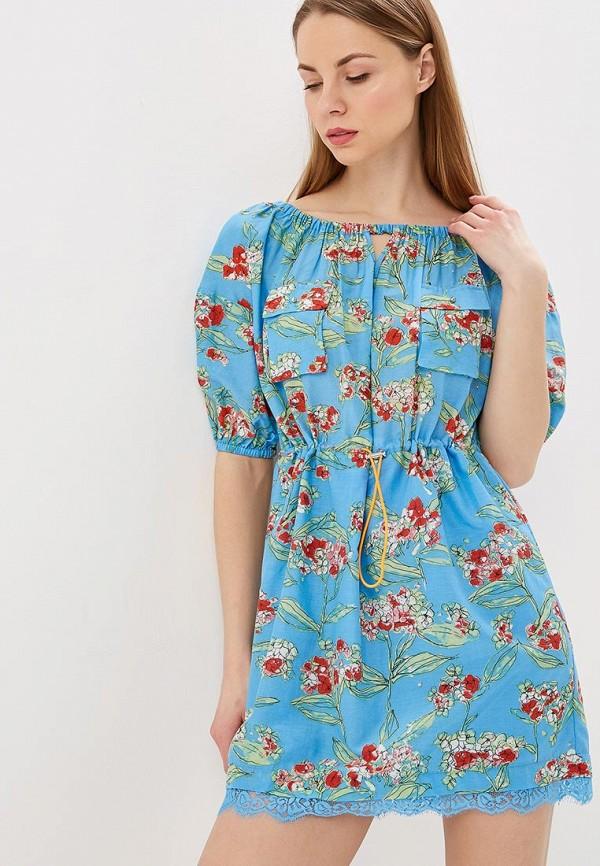 женское повседневные платье patrizia pepe, голубое