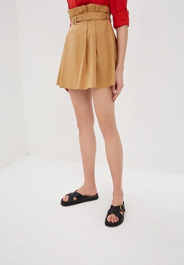 женская юбка patrizia pepe, бежевая