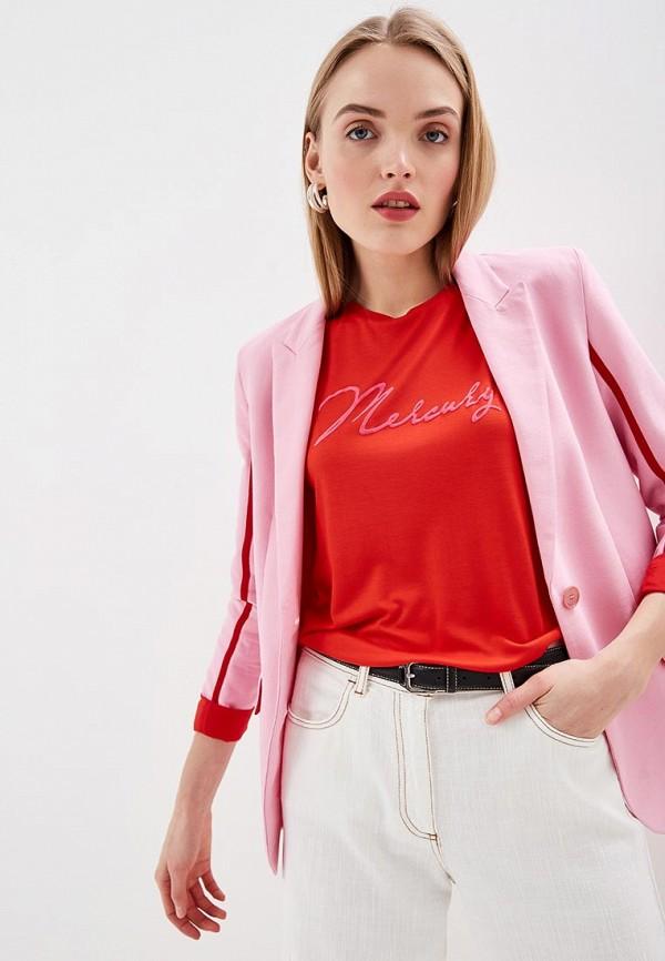 женская футболка patrizia pepe, красная