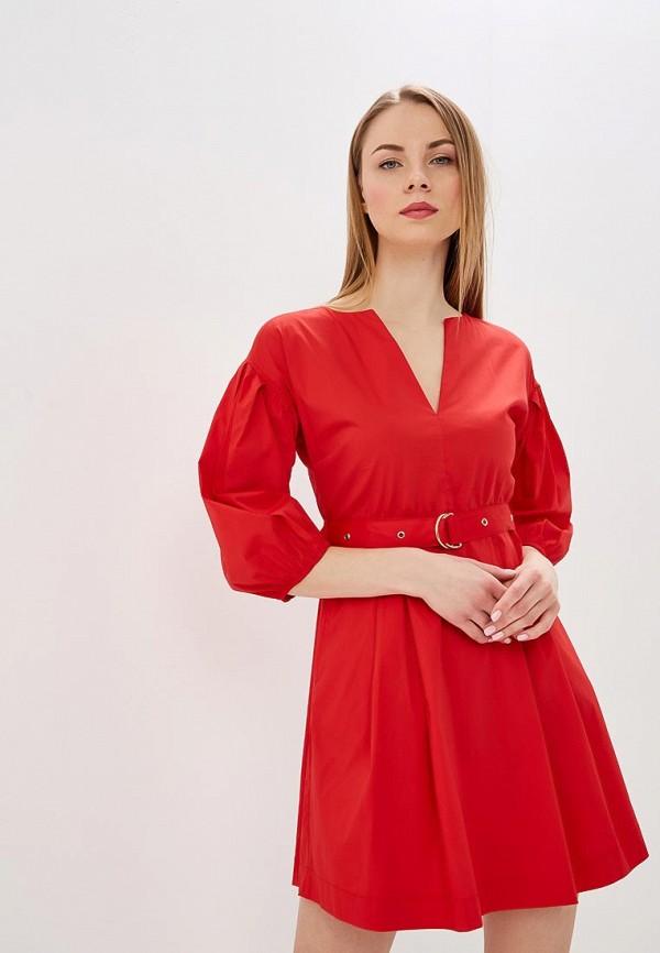 женское повседневные платье patrizia pepe, красное