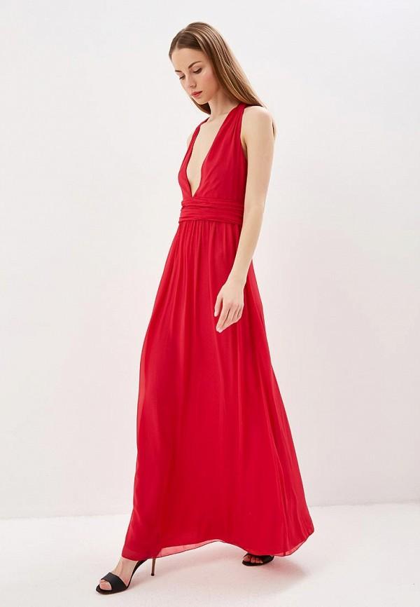 женское вечерние платье patrizia pepe, красное