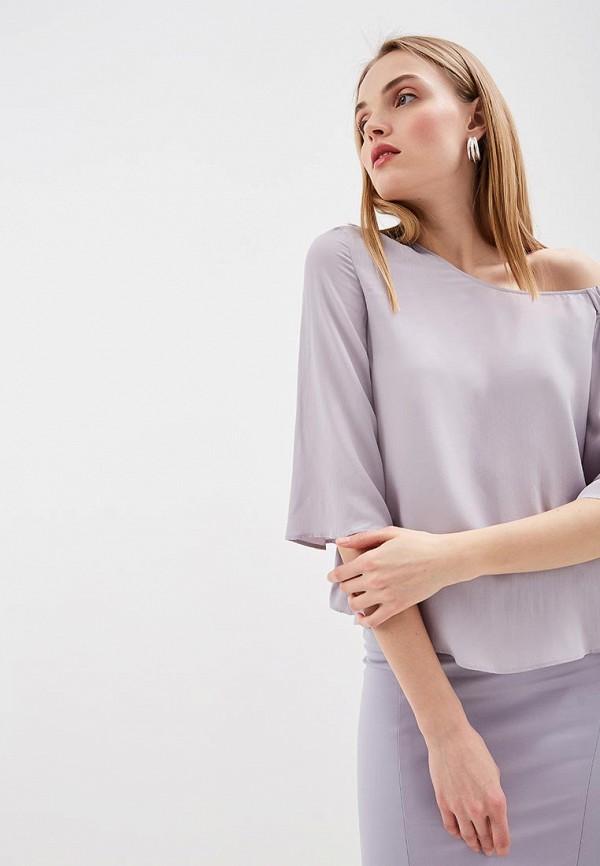 женская блузка patrizia pepe, фиолетовая
