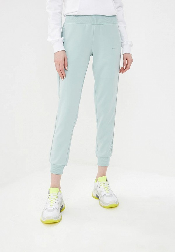 женские спортивные спортивные брюки patrizia pepe, бирюзовые