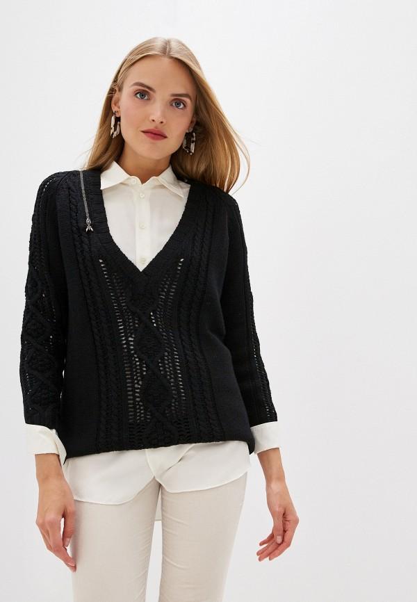 женский пуловер patrizia pepe, черный