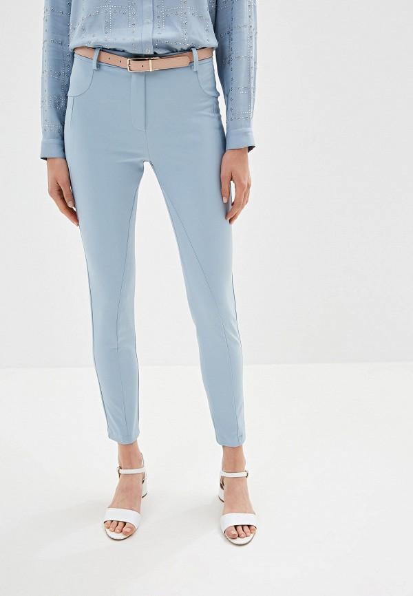 женские повседневные брюки patrizia pepe, голубые