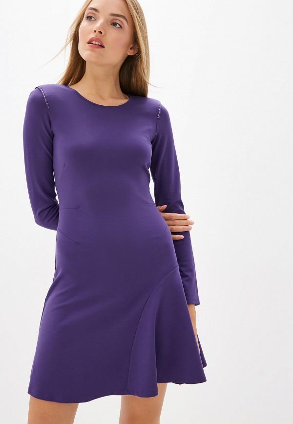 женское повседневные платье patrizia pepe, фиолетовое