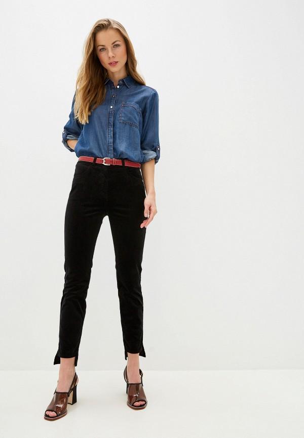Фото 2 - женские брюки Patrizia Pepe черного цвета