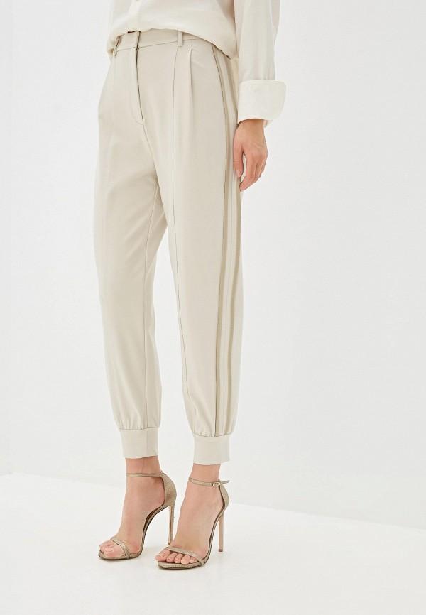 женские брюки patrizia pepe, бежевые