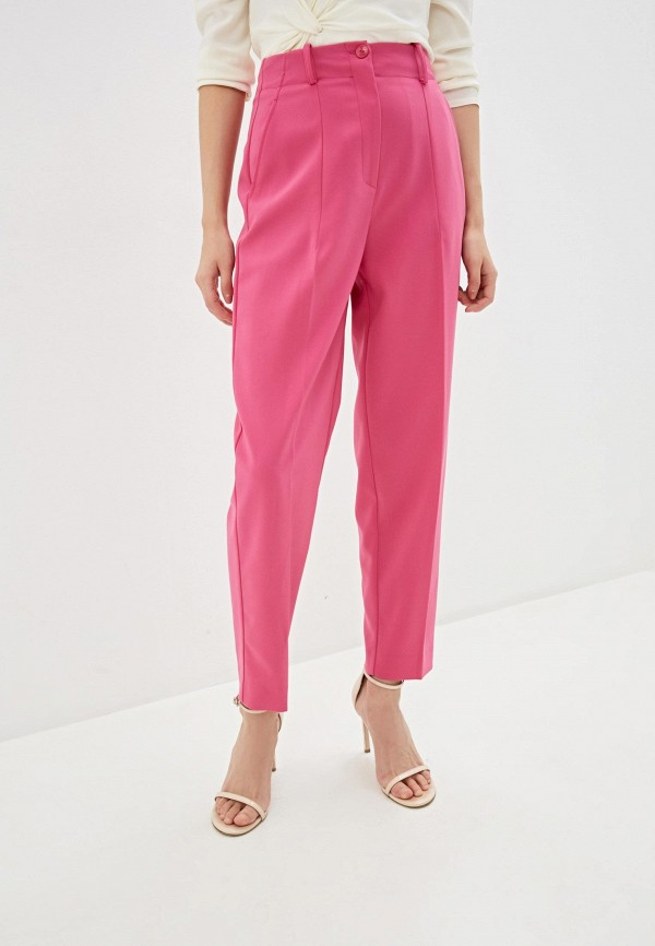 женские классические брюки patrizia pepe, розовые