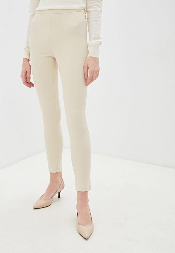 женские классические брюки patrizia pepe, бежевые