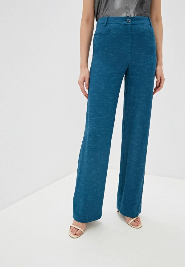 женские классические брюки patrizia pepe, синие