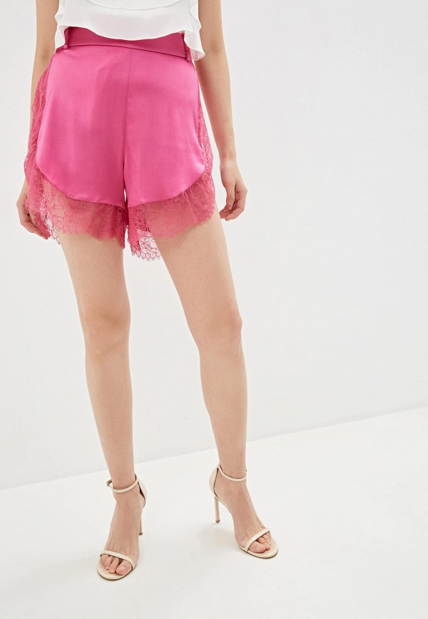 женские повседневные шорты patrizia pepe, розовые