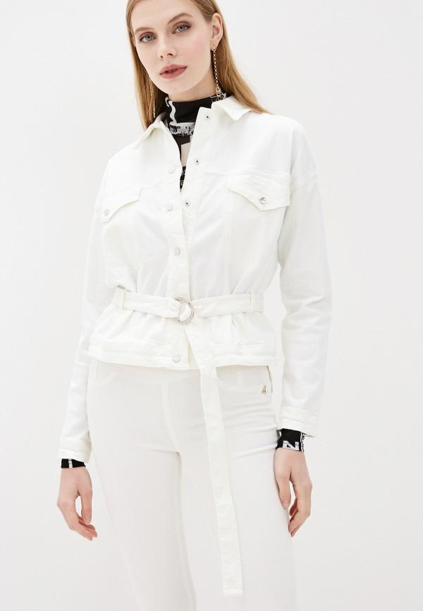 женская джинсовые куртка patrizia pepe, белая