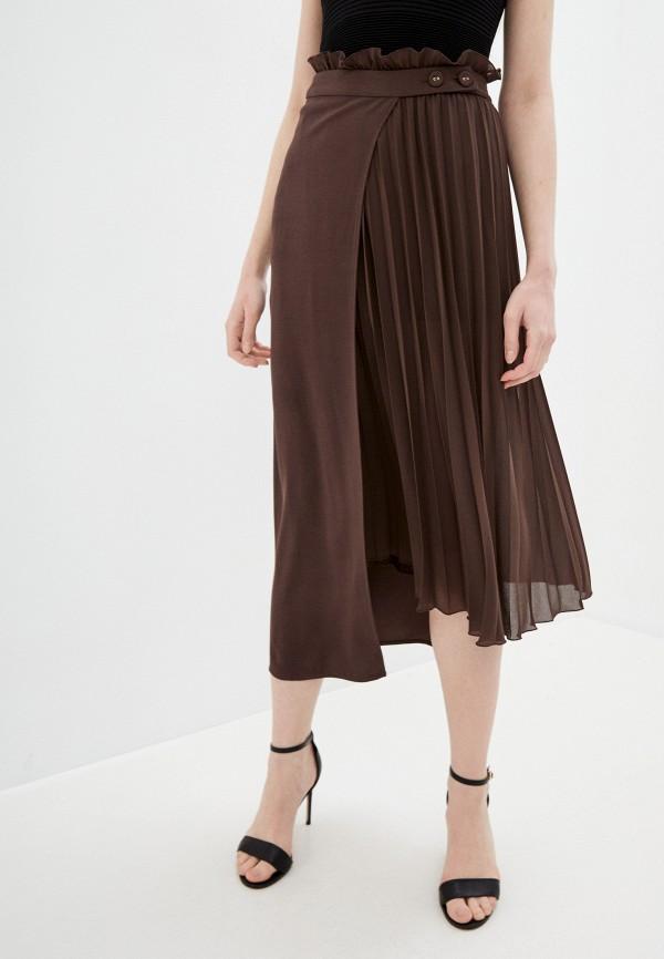 женская юбка patrizia pepe, коричневая