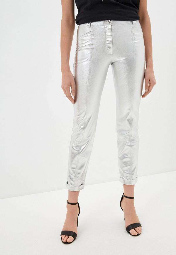женские повседневные брюки patrizia pepe, серебряные