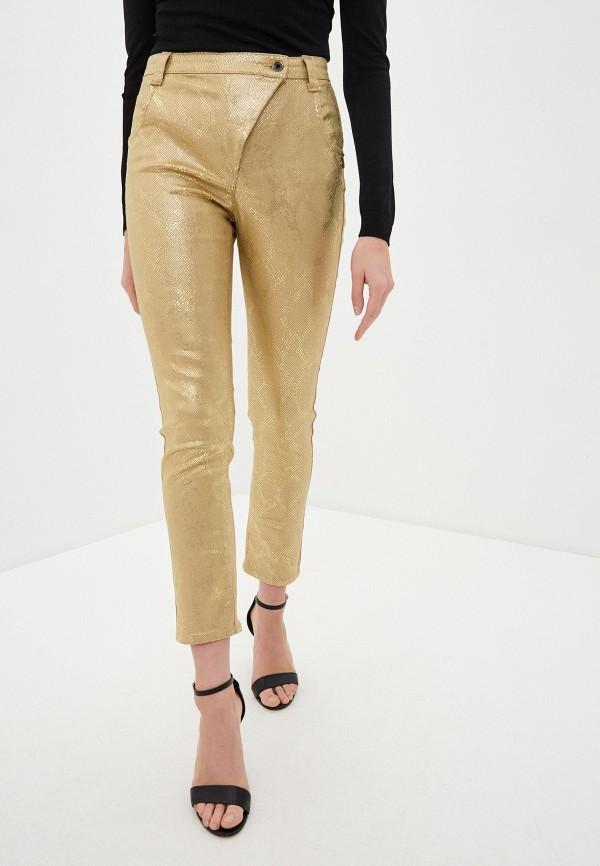 женские повседневные брюки patrizia pepe, золотые