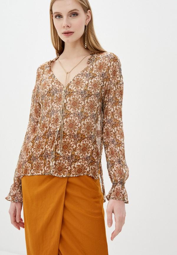 женская блузка patrizia pepe, коричневая