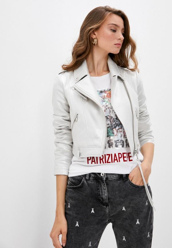 женская куртка patrizia pepe, белая