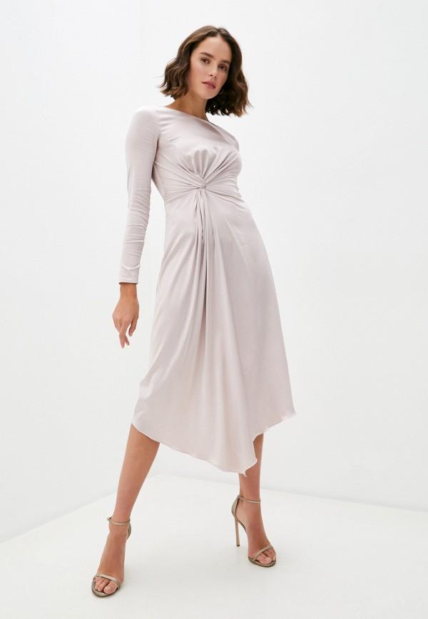 женское вечерние платье patrizia pepe, розовое