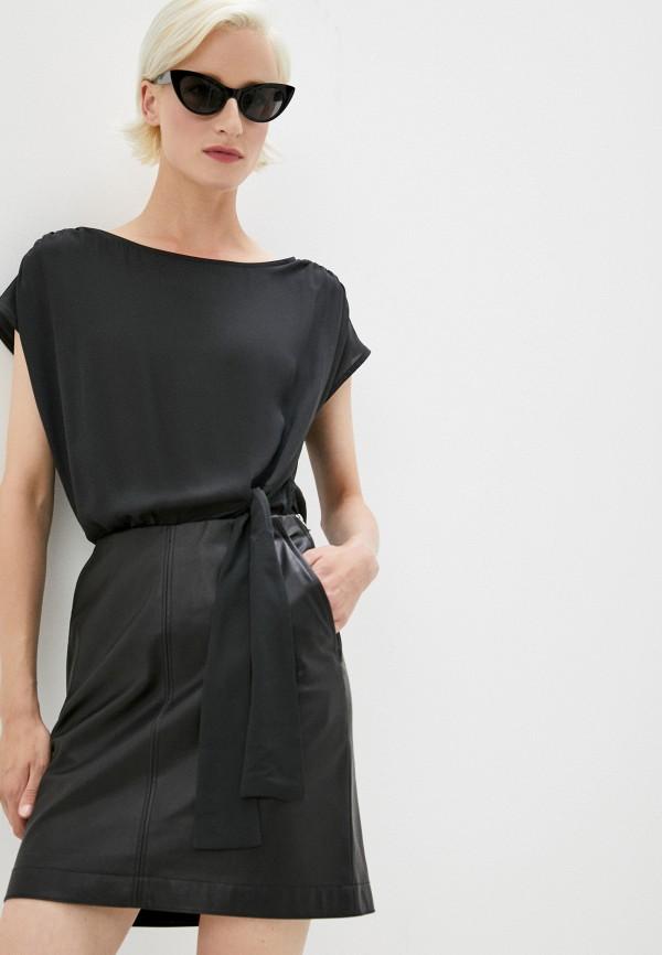 женское повседневные платье patrizia pepe, черное