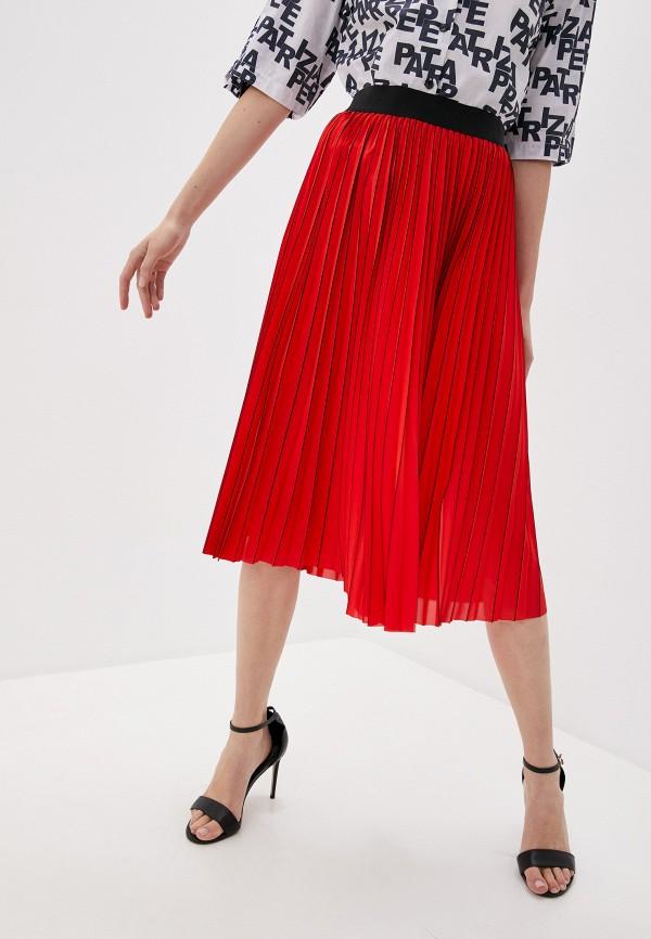 женская юбка patrizia pepe, красная