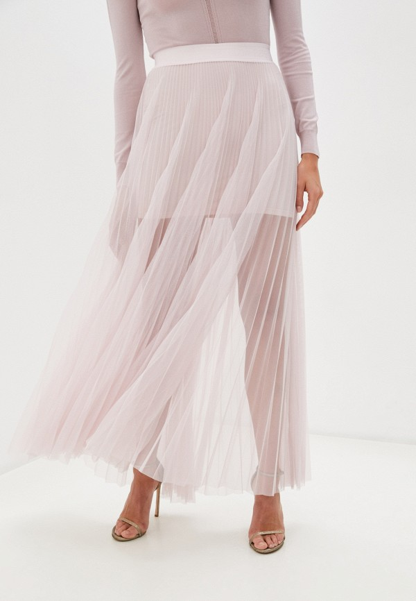 женская юбка patrizia pepe, розовая
