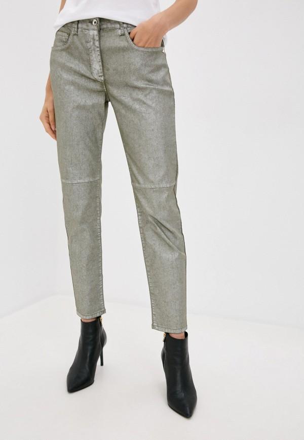 женские повседневные брюки patrizia pepe, зеленые