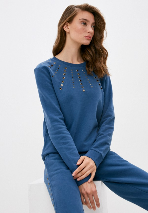 женский свитшот patrizia pepe, синий