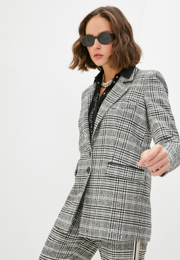 женский пиджак patrizia pepe, разноцветный