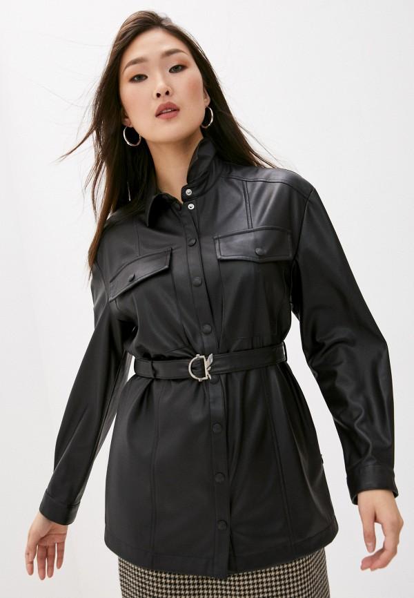 женская рубашка с длинным рукавом patrizia pepe, черная
