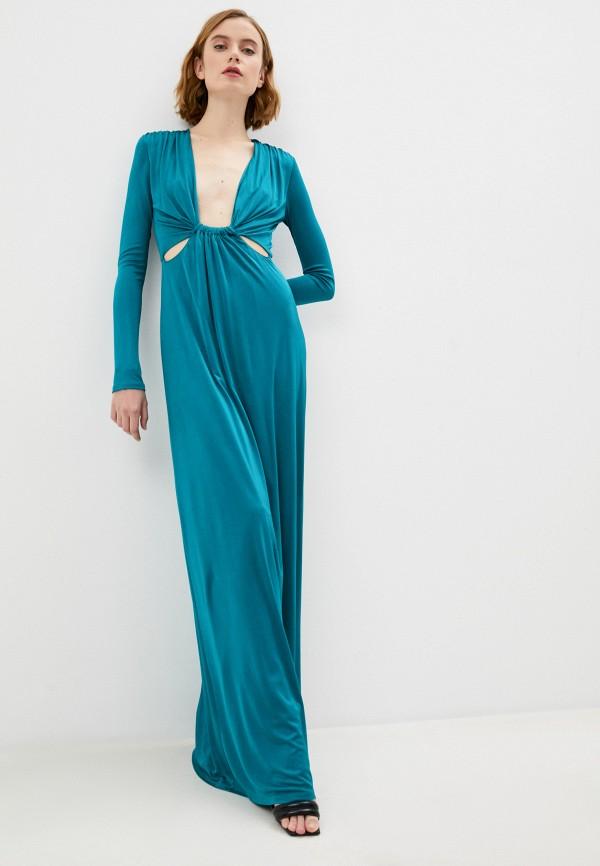 женское вечерние платье patrizia pepe, бирюзовое