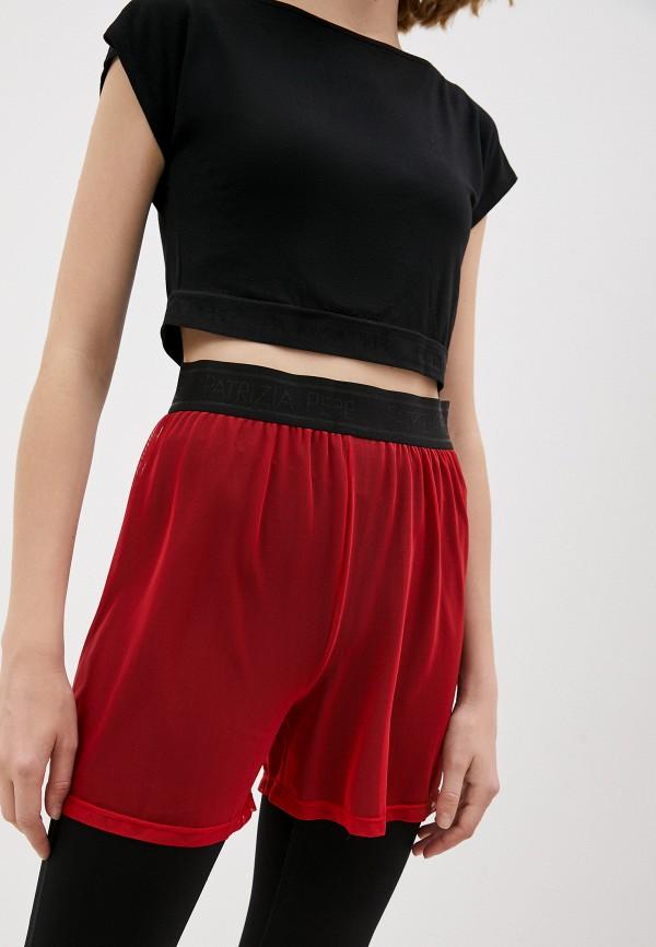 женские спортивные шорты patrizia pepe, красные