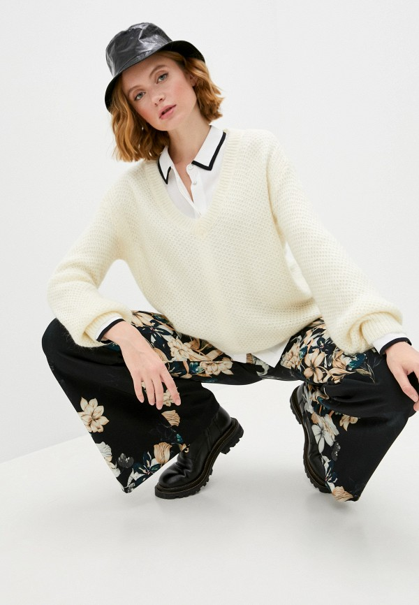 женский пуловер patrizia pepe, бежевый