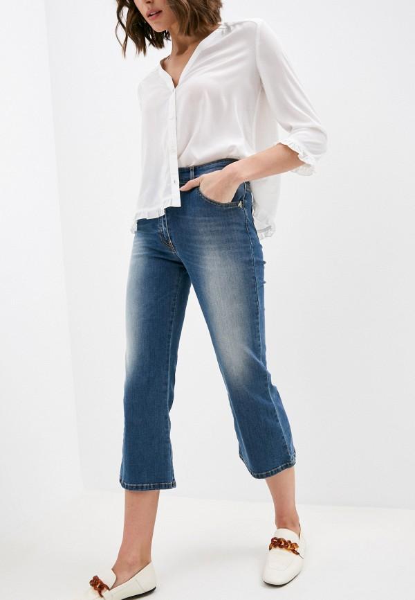 женские джинсы клеш patrizia pepe, синие