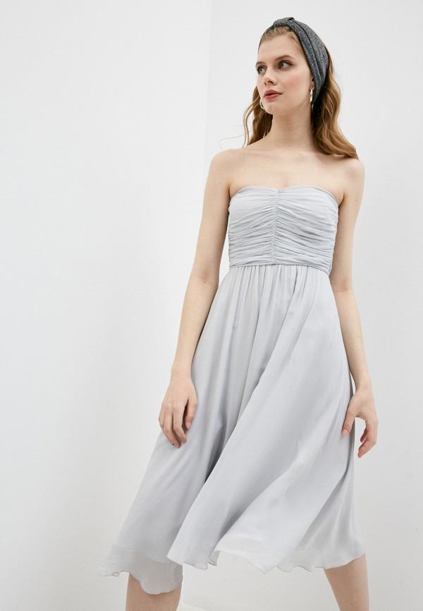 женское вечерние платье patrizia pepe, серое