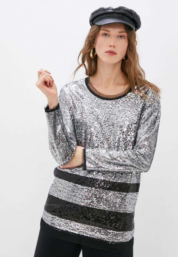 женская блузка patrizia pepe, серебряная
