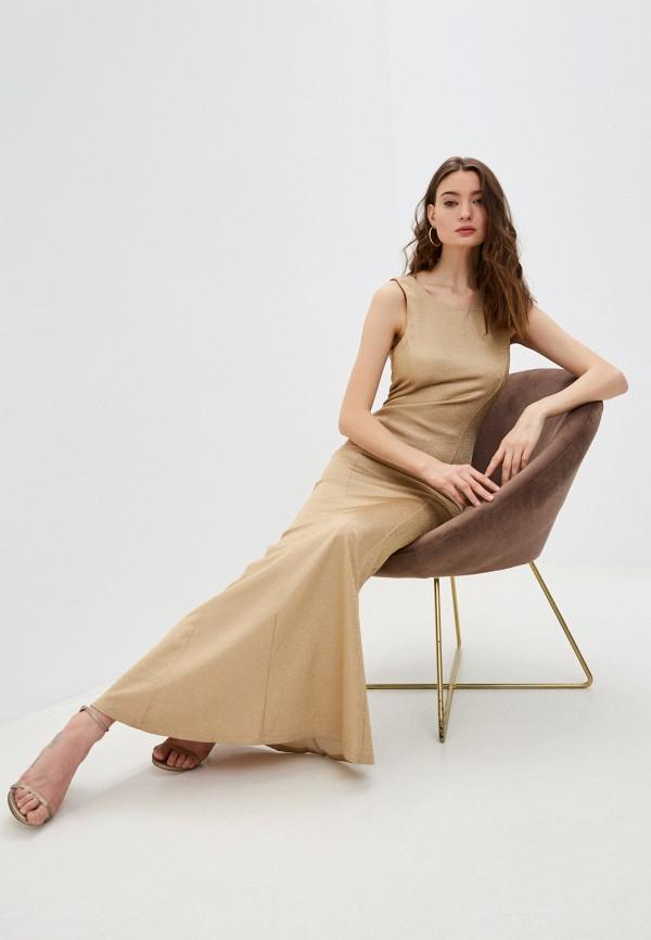 женское вечерние платье patrizia pepe, золотое