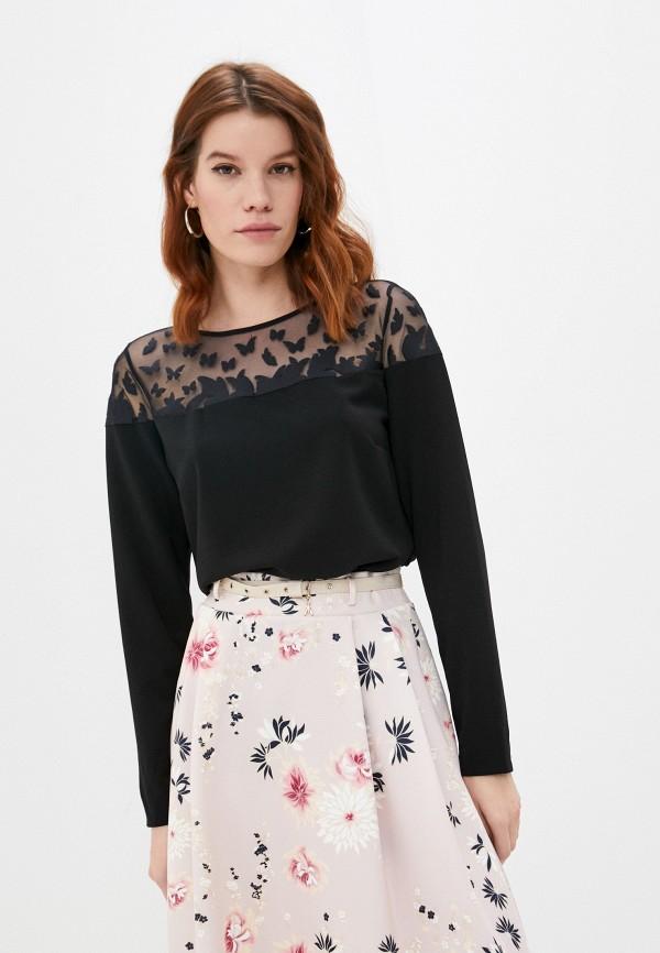 женская блузка patrizia pepe, черная