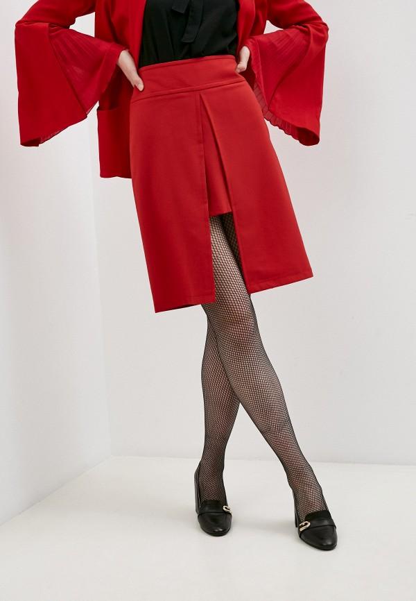 женская прямые юбка patrizia pepe, красная