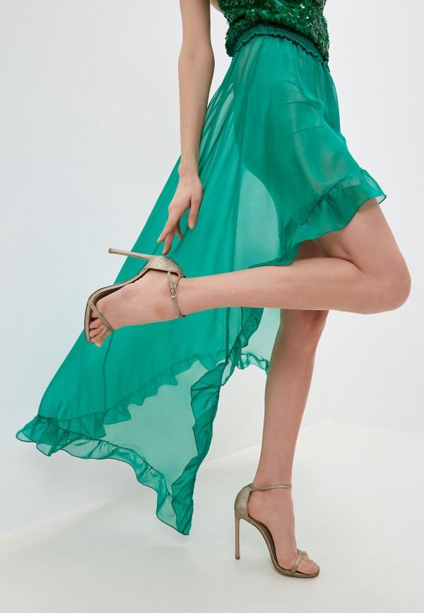 женская юбка patrizia pepe, зеленая