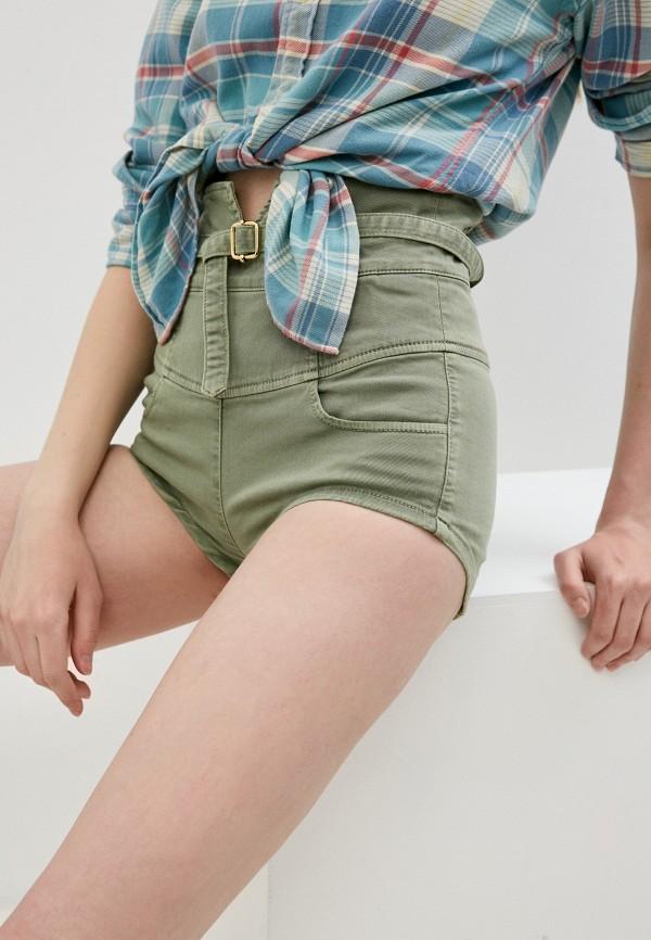 женские повседневные шорты patrizia pepe, хаки