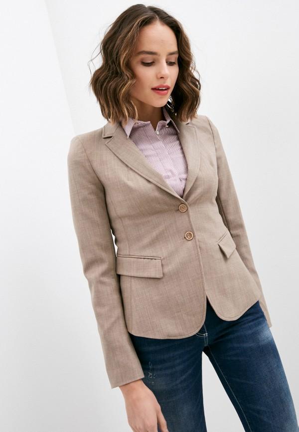 женский пиджак patrizia pepe, бежевый