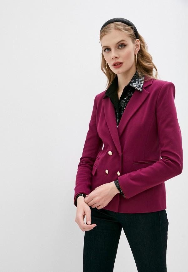 женский пиджак patrizia pepe, фиолетовый