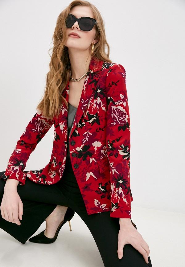 женский пиджак patrizia pepe, красный