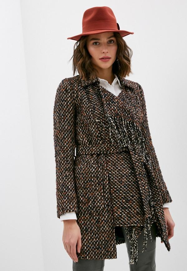 женское пальто patrizia pepe, коричневое