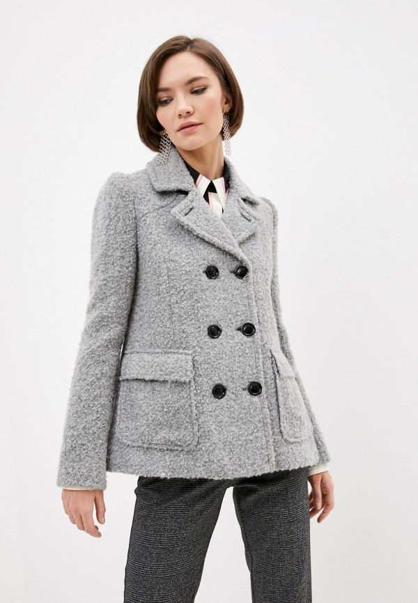 женское пальто patrizia pepe, серое