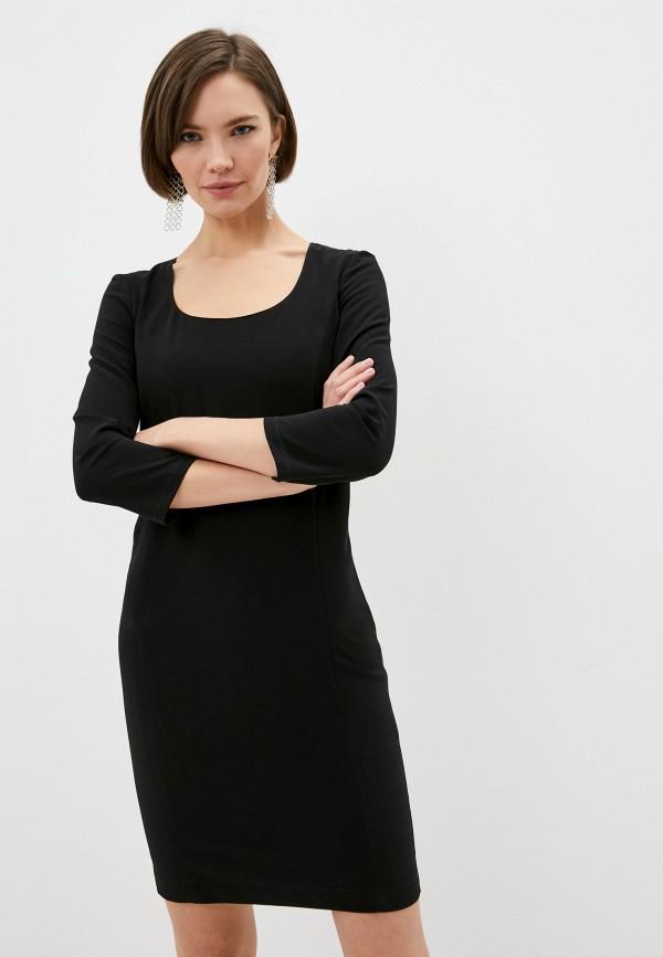 женское платье-футляр patrizia pepe, черное