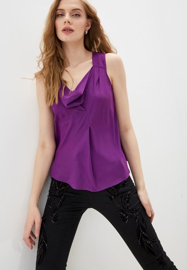 женский топ patrizia pepe, фиолетовый